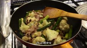 グリーンアスパラと豚肉のオイスターソース炒め