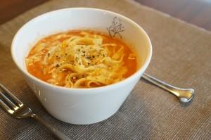 トマトスープパスタの作り方